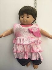 2012 American Girl Doll Short Brown Hair Full Size Doll and Extra Clothing Lot