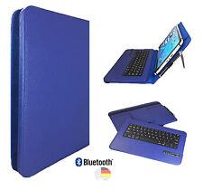 Bluetooth DE Tastatur Hülle Samsung Galaxy Tab A6 Tablet PC kabelos 10.1 BT Blau