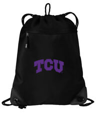 Texas Christian University Cinch Bag TCU Backpack - MESH & MICROFIBER!