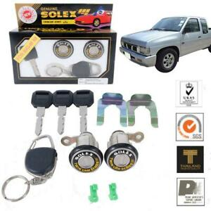 For NISSAN NAVARA 98-2003 D21 HARDBODY SOLEX 2 DOOR LOCK SAFETY FLAT KEY CYLINDE