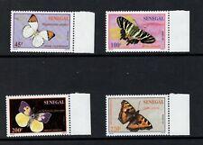 Senegal 1995 Butterflies of Senegal Sc 1187-1190  MNH