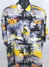 Ralph Lauren Aloha Men's Hawaiian Short Sleeve Button Front Shirt Size XXL Rayon