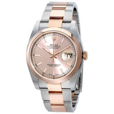 Rolex Datejust Pink Dial Stainless Steel and 18ct Everose Gold Automatic Mens