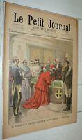 PETIT JOURNAL 19-07 1896 PRESIDENT FAURE NONCE PAPE / CHASSEURS ALPINS VOSGES
