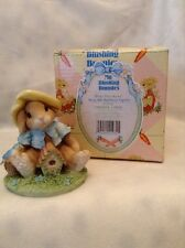 My Blushing Bunnies Enesco Bless This Home 1995 Resin Figurine #157775