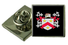 Brodie Scotland Family Crest Coat of Arms Lapel Pin Badge Engraved Gift Case