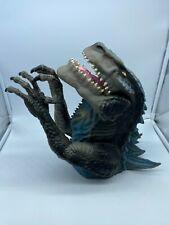 1998 Toho Large Rubber Godzilla T-Rex Dinosaur Hand Puppet No Sound