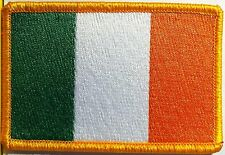 IRELAND Flag Patch with VELCRO brand fastener Military Tactical Gold Emblem #8