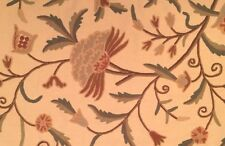 LEE JOFA Nimi Crewel Coral Floral Embroidery India Remnant New