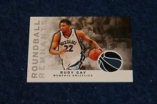 RUDY GAY KINGS GRIZZLIES UCON 2009-10 TOPPS ROUNDBALL REMNANTS JERSEY (WB315)