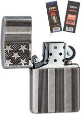 Zippo 28974 Flag Armor Antique Lighter with *FLINT & WICK GIFT SET*