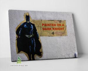 BANKSY Batman Dark Knight Graffiti Canvas Art Wall Art Print Picture Photo -C847