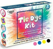 Tie Dye Kit With Cushion Cover And Canvas Bag, Yellow, Pink, Blue, Black