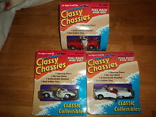 CLASSY CHASSIES DIECAST METAL LOT THUNDERBIRD,STING RAY, CORVETTE ROAD RUNNERS