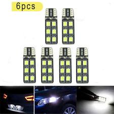 6x T10 12-SMD LED Canbus Bead Error Free Car Light Bulb Lamp W5W 194 168 2835