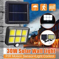 120 LED Solar Power Wall Light PIR Motion Outdoor Garden Security Flood Lamp