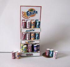 Pavimento in piedi esposizione negozio bevande in Scatola Casa delle Bambole in Miniatura