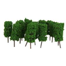 50pcs Light Green Cylinder Trees Model Train Layout Park Scenery 1:300
