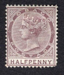 Tobago QV 1880 1/2d purple-brown Wmk Crown CC P14 MM SG8 SGCat £75.00 - no gum