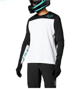 Fox racing defend delta ls jersey white 2021 polartec maglia mtb bike downhil...