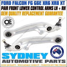 PAIR LH + RH Front Lower Control Arms with Ball Joint Bush Ford Falcon FG L&R