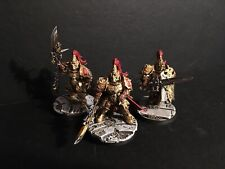 3x Adeptus Custodes Custodian Guard COMMISSION Warhammer 40k 30k Temple Base