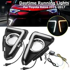 For 2015-2017 2018 Toyota RAV4 Daytime Running Light Fog Lamp DRL w/ Turn