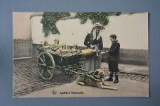 R&L Postcard: Belgium Flamande, Working Dog & Milk Cart Trailer, Tinted