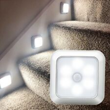 6 LED Night Light Motion Sensor Wall Closet Cabinet Stair Wireless Lamp