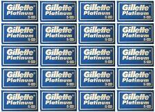 100 Gillette Platinum Double Edge DE Razor Blades