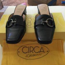 Circa Joan & David Quarina Black Flats/Mules/Slides 5.5M Excellent Condition!