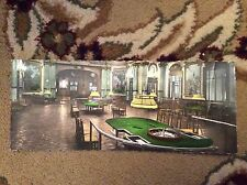 M1b postcard unused monte carlo roulette tables old long card creased
