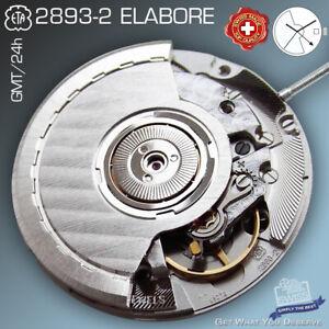 MOVEMENT AUTOMATIC ETA 2893-2 GMT, ELABORE, CDG, DATE, HH5,  FACTORY NEW