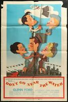 Don't Go Near the Water Glenn Ford 1957 ONE SHEET MOVIE POSTER 27 x 41 -