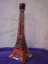 Vintage  Eiffel Tower glass decanter  SEALED  (peppers & onions)  ON  CLEARANCE