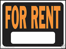 """FOR RENT 8"""" x 12"""" plastic SIGN indoor outdoor Rental house Apartment HY-KO 3005"""