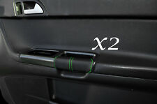 GREEN STITCHING FITS VOLVO S40 & V50 04-13 2X FRONT DOOR HANDLE LEATHER COVERS