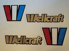 2 Wellcraft boat emblem stickers mirror CHROME Marine Vinyl