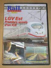 RARE DVD DOC / RAIL PASSION / LGV EST, PREMIERS ESSAIS D'UN ICE / TR BON ETAT