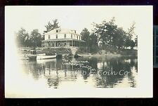1909 RPPC The Wilkie House Hotel Lake Pokegama Pine City MN  B1808
