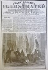 ABRAHAM LINCOLN ASSASSINATED 1865 PRESIDENT APRIL 29 ILLUSTRATED OLD NEWSPAPER