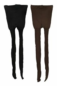 Legacy Sz One Size Pantyhose Control Top Sheers Set Of 2 Brown And Black A388346