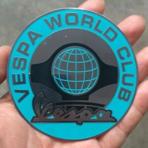 BADGE VESPA WORLD CLUB OIL SALE VINTAGE CLASSIC SCOOTER 65' GS VINTAGE