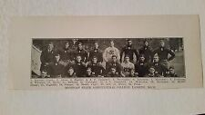 Michigan State Spartans University 1908 Football Team Picture VERY RARE