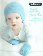 PATONS 8000 ~ LITTLE ANGELS, 5 x GORGEOUS DESIGNS in 4ply ~ Newborn to 12 Months