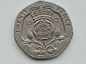 RARE 1982 Twenty Pence 20 P COIN The 1st Year MINTAGE