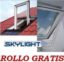 Dachfenster SKYLIGHT Kunststoff 78x118 + Eindeckrahmen  + ROLLO
