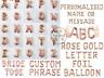 Rose Gold Letter Number Foil Balloons Personalised Custom Name Birthday Wedding