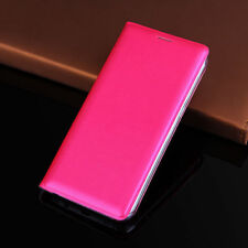 Hot pink Card Pocket Leather Case Cover For Samsung Galaxy Note Edge