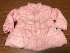 Snoopy Peanut Toddler Baby Girl Pink Puffer Warm Winter Coat Jacket 12M A120
